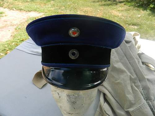 Ww1 prussian visor cap ???