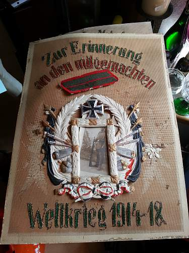 WWI German soldier honorary Clothe plaque