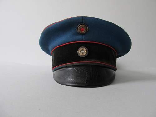 Prussian Artillerie or Pionier officer's visor cap