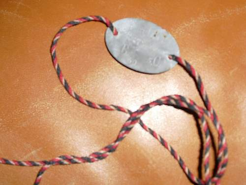 Reservist Tag with nice cord.