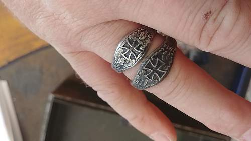 Iron for Gold Ring