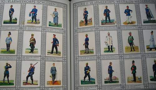 Nice cigarette card book on the old uniforms