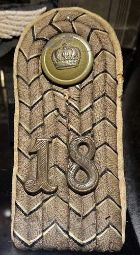 WW1 German Shoulder Board - Information Required