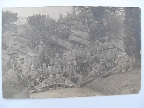 ww1 german postcard,bayonets