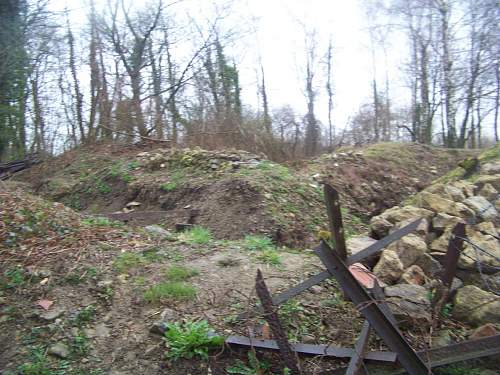 German trench line in Meuse Argonne