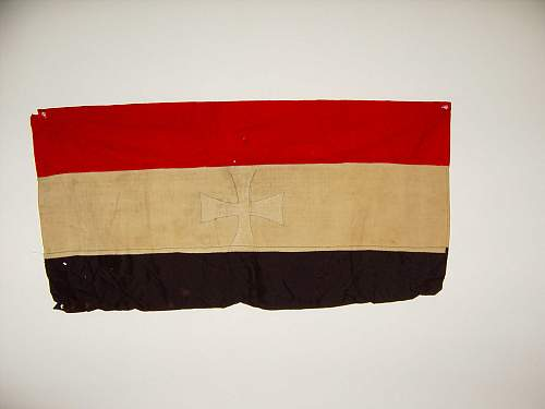 Guidance is greatly appreciated. WW1 Prussian flag? I'm guessing.