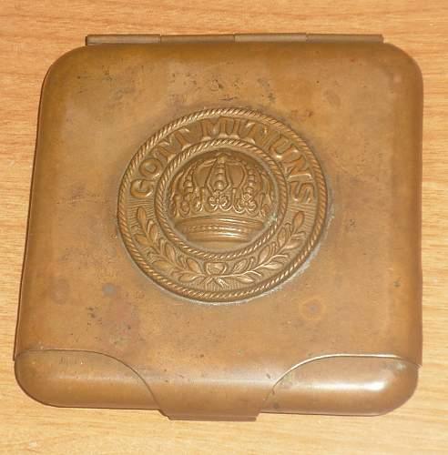 WWI German brass Cigarette case???