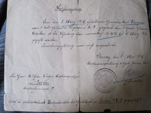 WWI Document Finds