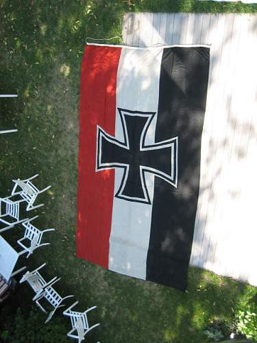 Huge German WWI Naval Imperial flag questions