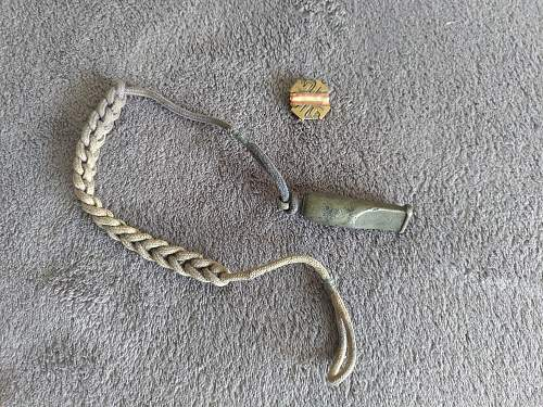 WWII Austro-hungarian whistle + pin?