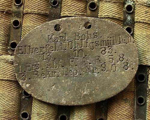 Imperial German erkennungsmarke