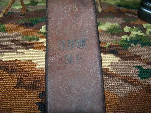 WW1 straps on ww2 backpack from Normandy