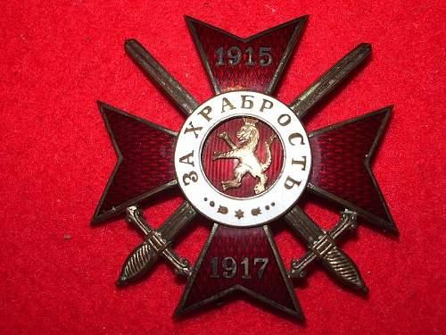 Bulgarian Order of Bravery.