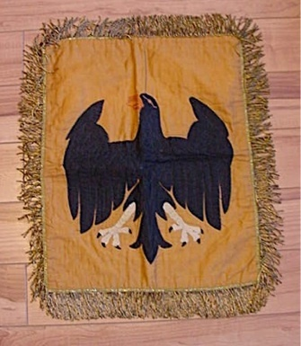 German Banner with eagle looks all hand made.