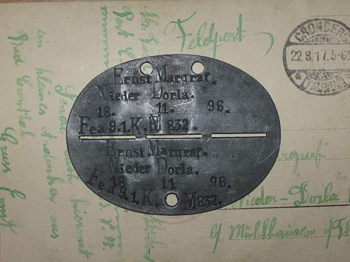 German dog tag: who was this soldier?