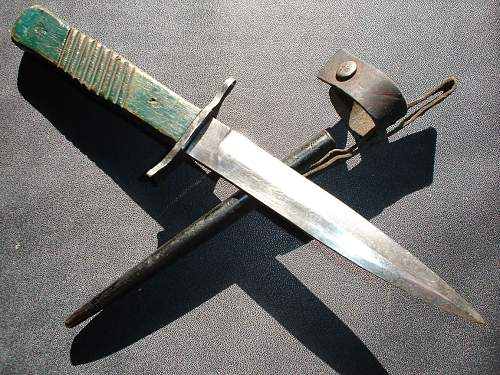 """""""overpainted"""" Demag trench-knife"""
