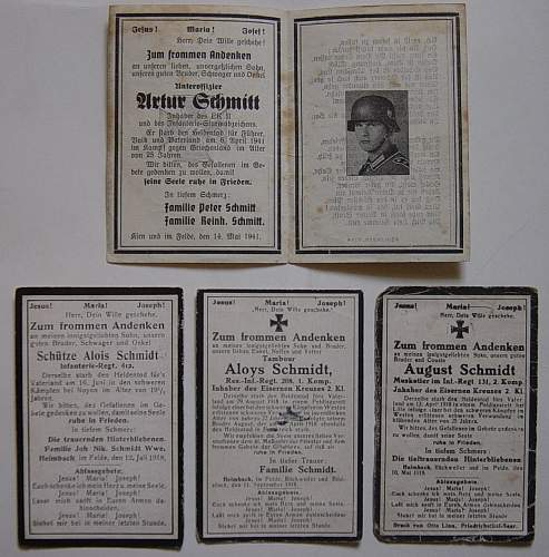 Click image for larger version.  Name:Death cards to one family both WW1 and WW2..jpg Views:345 Size:234.7 KB ID:229497