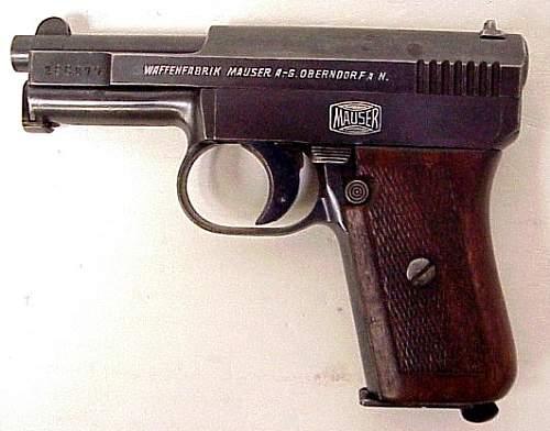 prototype experimental pistols Mauser-Nickl in 9 mm Parabellum