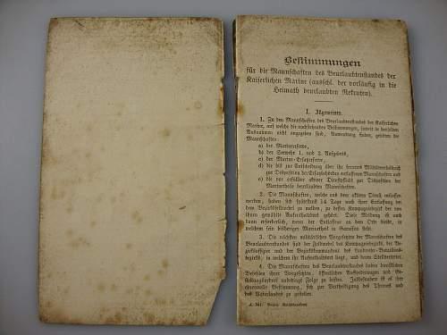 Click image for larger version.  Name:1886 Kaiserlichemarine Erstazreservepaß  #2.JPG Views:47 Size:151.2 KB ID:300561