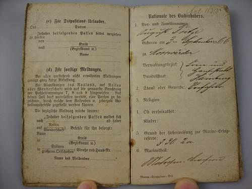 Click image for larger version.  Name:1886 Kaiserlichemarine Erstazreservepaß  #3.JPG Views:46 Size:154.1 KB ID:300562