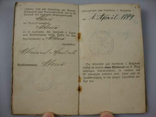 Click image for larger version.  Name:1886 Kaiserlichemarine Erstazreservepaß  #4.JPG Views:51 Size:123.1 KB ID:300563