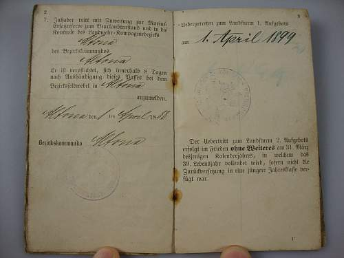 Just in - 1886 Kaiserlichemarine Erstazreservepaß!