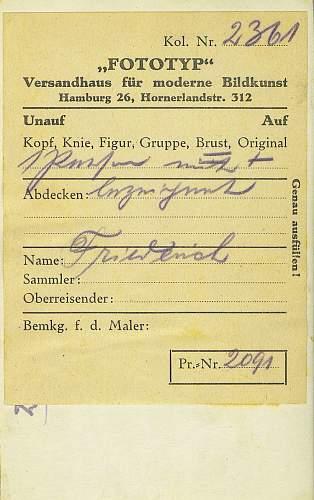 1916 Postcard of men from IR21