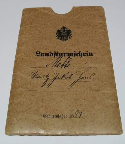 Landsturmschein - J.R.26