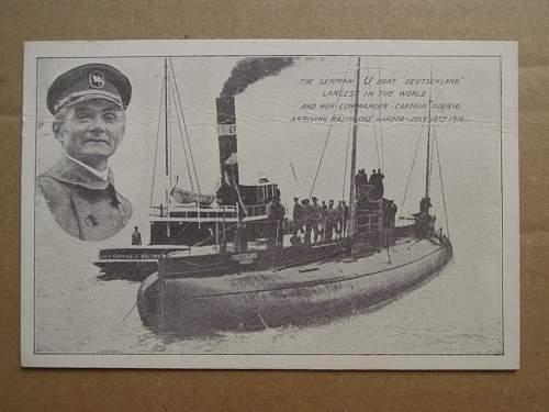 Click image for larger version.  Name:U-Kreuzer Deutschland Baltimore Harbor 1916 (front).JPG Views:219 Size:171.9 KB ID:307255