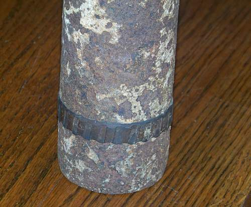 WW1 German shell found in Meuse Argonne river.