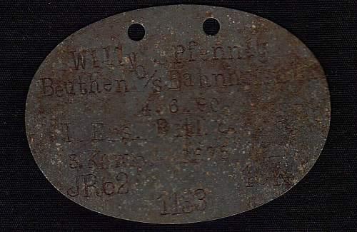 Post Your WW1 ID Discs