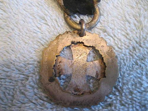 wwi patriotic pendant