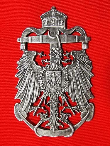 Seeking info and help. Silver Kaiserliche Marine Plaque.