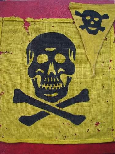 Gas warning flag