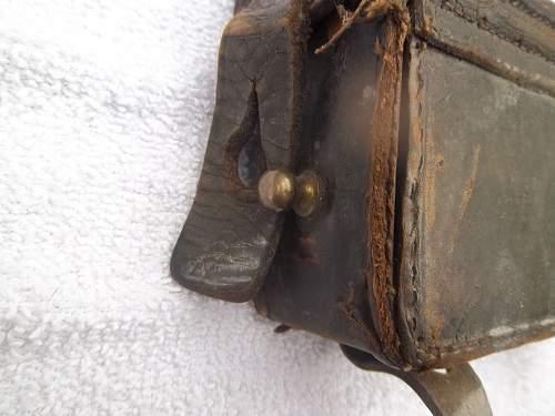 Ww1 german ammo pouch named!!!!!