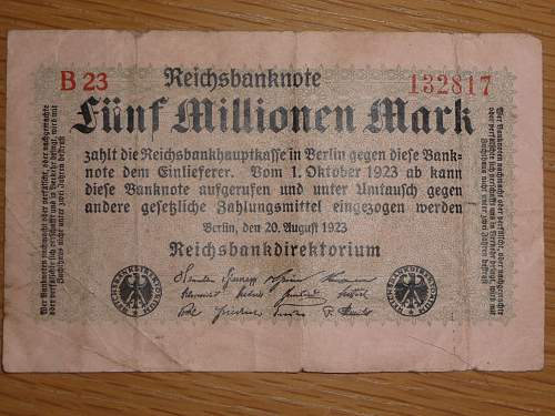 Imperial German bank notes?