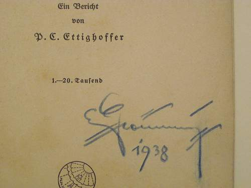 Signed German book
