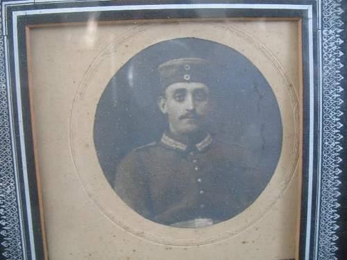 Framed photo german soldat KIA