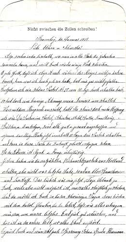 Selection of 10 WW1 German POW letters.