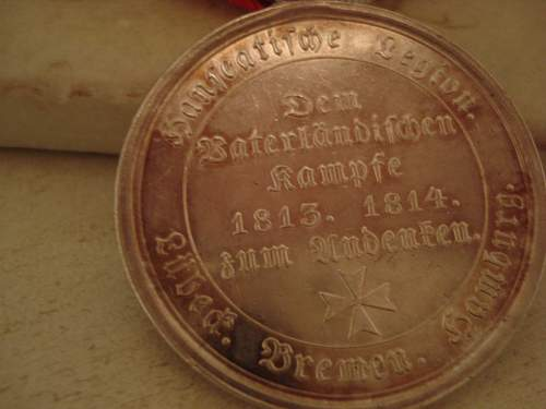 Hanseatic Napoleonic Campaigns Medal 1814 1815