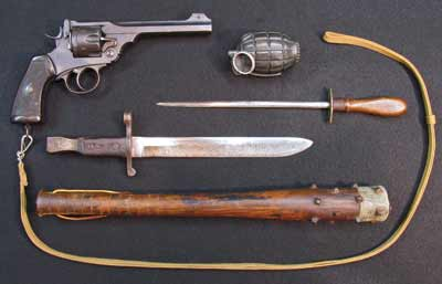 WW1 Close Combat Hand Weapons / Body Armour