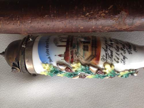 Imperial Veteran's Pipe and Schnapps Flask for review
