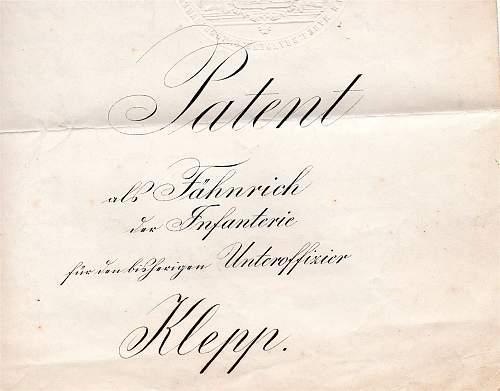 Phillip Klepp Patent 1913