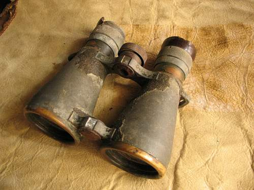 Is this a WWI Unit marking?  WWI Relic Carl Zeiss Dienstglas