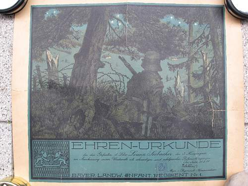Ehren-Urkunde (Honorary Certificate)
