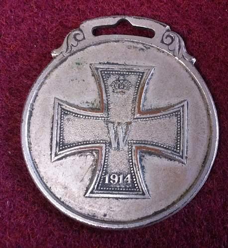American made imperial german patriotic watch fob