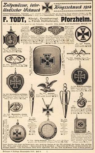 WW1 German Enamelled hinged locket