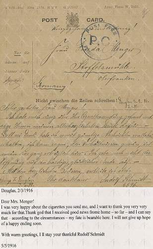 Two WWI German Soldiers' letters