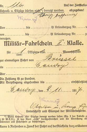 wwi german military document need  translated
