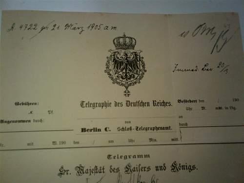 Original documents? Hidenburg and kaiser wilhelm II